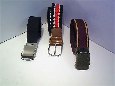 ladies gents elastic jean belts fits 30 to 44 waist  3 for £12