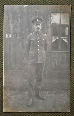 WWI ID'd British POW - 1st Coldstream Guards Soldier RPPC
