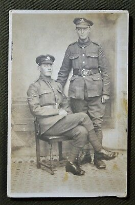 WWI British Soldiers (Brothers) MGC, RPPC - Dated Oct. 21, 1917