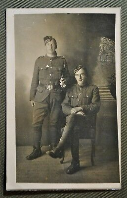 WWI RPPC of Two Scottish Soldiers