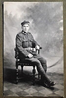 WWI Scottish Soldier Medical Corps - RPPC