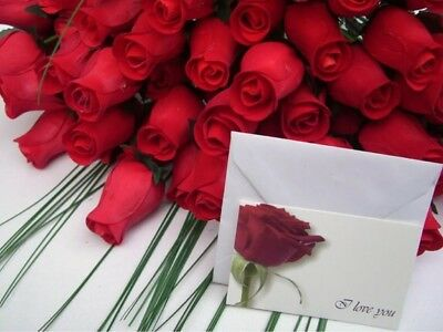 Wholesale Valentines Flowers 100 Red Wooden Roses Mixed Box Gift Grasses