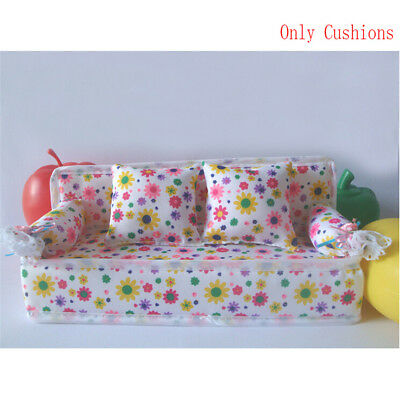 Baby Toy Plush Stuffed Furniture 3x Cushions For  Doll Couch Ls