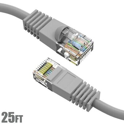 50 Pack Lot Qty Giga LAN 1-FEET FT CAT5/'e Ethernet Patch Cable Cord 350MHz RJ45