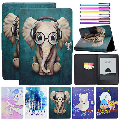 For Amazon Kindle HD 8 2018 Case Fire 7 Paperwhite Smart Leather Magnetic Cover
