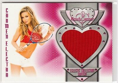 Carmen Electra 2014 Benchwarmers Eclectic Collection Swatch Relic #67Jumbo Patch