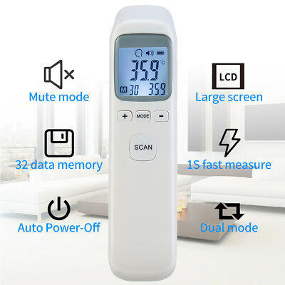 Non-contact Forehead Thermometer Body Temperature Meter Home IR Digital D4U2B