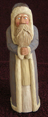 J. Starkey Santa Taupe Hand Carved Painted 2008  #1949
