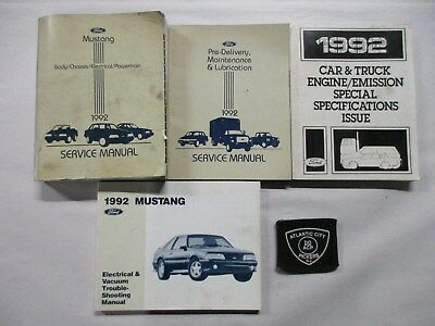 1992 ford mustang service shop repair manual & wiring diagrams set