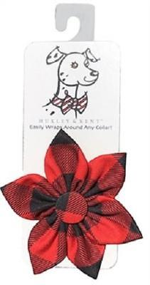 NEW Red Buffalo Check Plaid Pinwheel Holiday Collar Attachment by Huxley & Kent