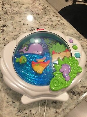 Fisher Price Ocean Wonders Deep Blue Sea Baby Crib Soother, Music, Light, Sounds