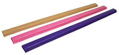 8FT Suede Folding Balance Beam Foam Gymnastics Balance Beam Home Gym Training