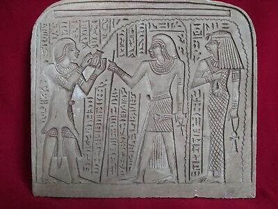 Ancient Egyptian rare Painting of King Tutankhamun and ISIS (2400–2300 BC)