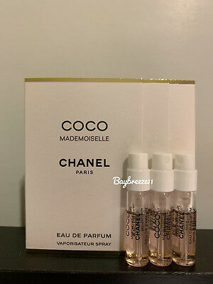 3 x Chanel Coco Mademoiselle EDP Eau de Parfum Spray 1.5ml / 0.05oz each
