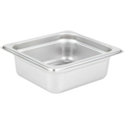 """Restaurant Equipment STAINLESS STEEL STEAM TABLE PAN 1/6 SIXTH SIZE 2"""" deep"""