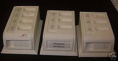 "Store Fixtures 3 MULTI RING JEWELRY DISPLAYS 3.5"" long"