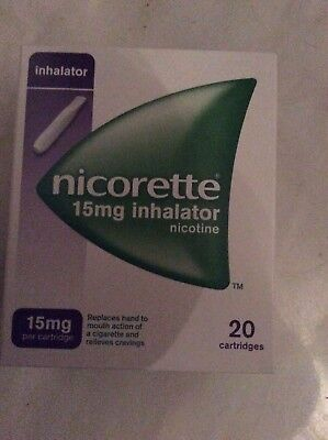 Nicorette Inhalator 15 mg 20 cartridges brand new DATE 10/2019