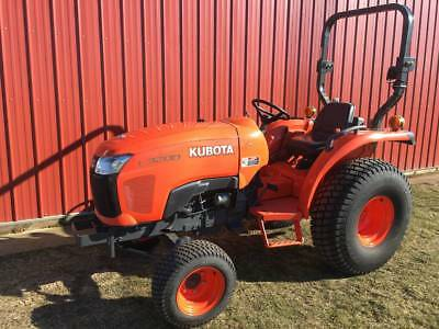 Kubota L3200 Compact Utility Tractor 80 hours 2wd Gear Power Steering Clean 32hp