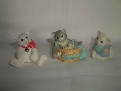 Enesco Calico Kittens Mini 1995 New Arrival 165355 and 2 other mini's