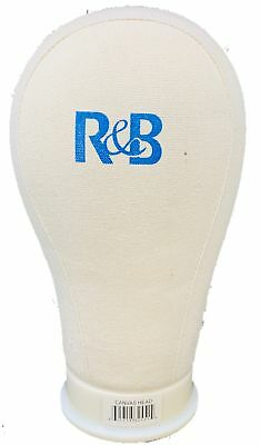 R&B Professional Mannequin Canvas Head For Making WIG With Mount Hole 22''