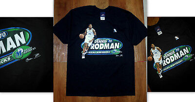 Brand New Vintage 99-00  Dennis Rodman Dallas Mavericks Deadstock T-Shirt  Xxl e16c3a6a1