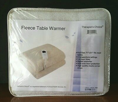 NEW Therapist's Choice Deluxe Fleece Massage Table Warmer Digital Controls