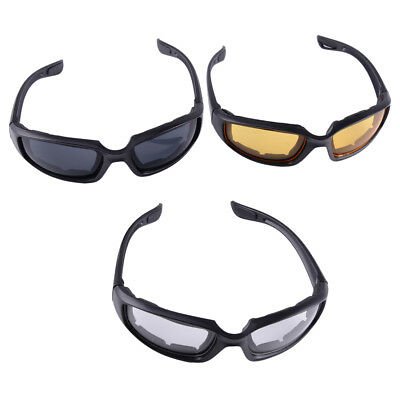 770335fd3d 3 Pair Choppers Motorcycle Padded Foam Wind Resistant Riding Glasses  Sunglasses