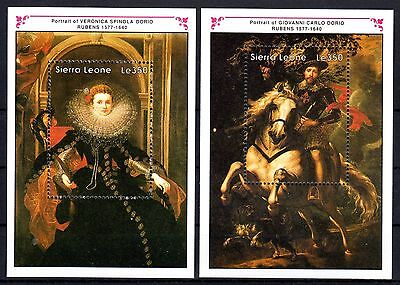Sierra Leone- 1990 Paintings Rubens - Mi. Bl. 147-48 MNH