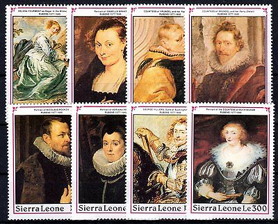 Sierra Leone- 1990 Paintings Rubens - Mi. Bl. 1559-66 MNH