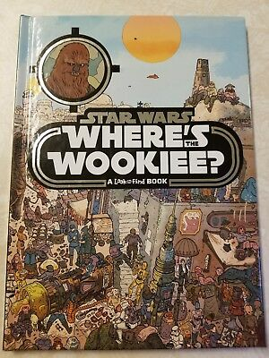 STAR WARS** Where's The Wookie?**  NEW HC Book Search and Find DISNEY/LUCASFILM