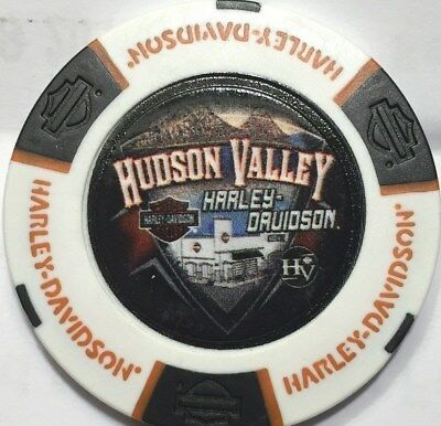 Harley Poker Chip   HUDSON VALLET HD  in NANUET, NY     WHITE