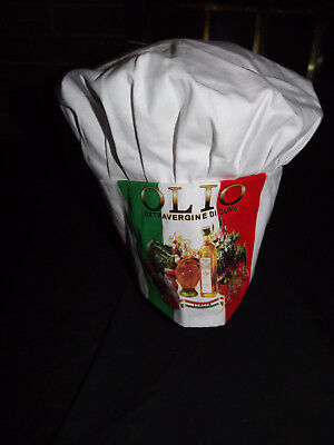 Tall Chef Hat White One Size Fits Most Olio Extraverginie Italia