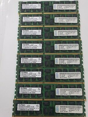 IBM 46C7488 512 GB 64 pcs of 8GB 4Rx8 PC3-8500R DDR3 ECC Memory from IbmX3850 X5
