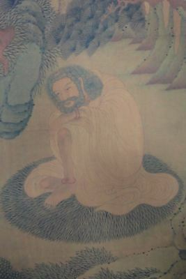 "Old Large Chinese Paper Painting Sakyamuni Buddha Image Marked ""DingYunPeng"""