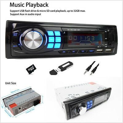 1 Din Car Radio Bluetooth Autoradio Stereo Audio MP3 Player Handsfree In-dash