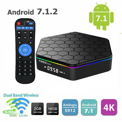 New T95Z plus Smart TV Box S912 Octa Core Android 4K 2GB/16GB Dual Band Wifi