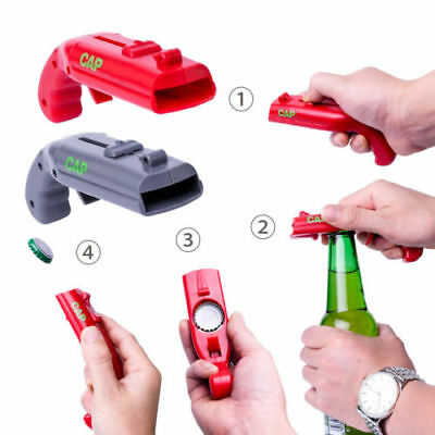 1Pc Shooter Bottle Opener Gun Beer Soda Cola Glass Jar Opening Tool Toy Gifts