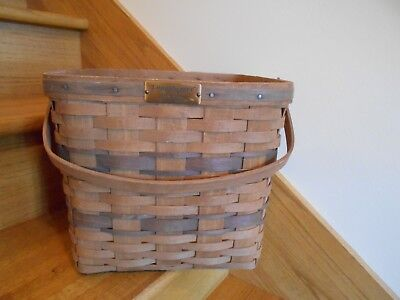 Longaberger JW Collection Two-Pie Basket 1986  carry a lot *shipping included!*