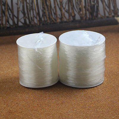 2Rolls White Elastic Stretchy Crystal Jewelry String Cord Thread Making