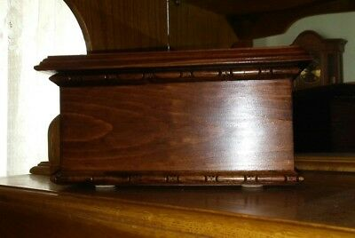 Cremation Ash Urn Adult Rich  Mahogany Finish  Up To 215 Pounds # 1