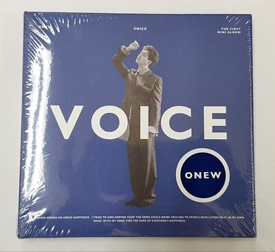 Shinee Onew-[Voice] 1st Solo Mini Album B Ver CD+Book+PhotoCard+Gift Kpop Sealed