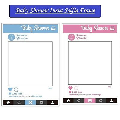Large Size Baby Shower Insta Frame Photo Booth Party Prop Selfie Photography Fun