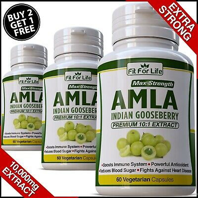 AMLA Extract Capsules Indian Gooseberry Detox Digestion Hair Pills Anti Oxidant