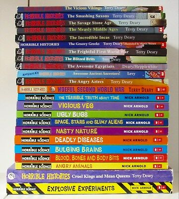 Lot 23 HORRIBLE HISTORIES & SCIENCE Terry Deary & Nick Arnold L1