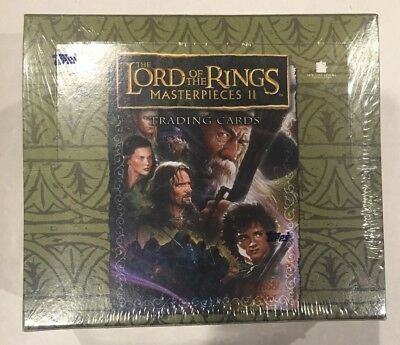 LORD OF THE RINGS MASTERPIECES II  TOPPS Factory Sealed HOBBY Box RARE 2007