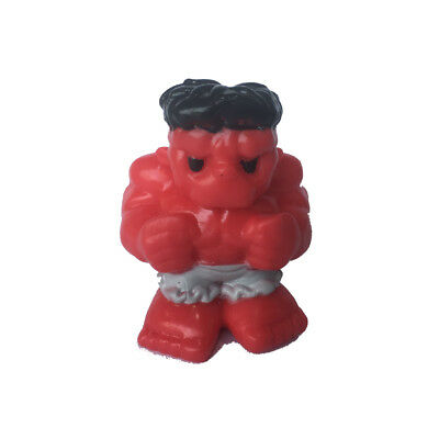 """rare Red Hulk Ooshie Marvel Series 1 pencil topper collection figure 1.5"""" toy"""