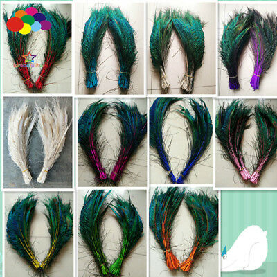 10-100pcs natural dye peacock feathers 12-16 inch/ 30-40cm decorated flower vase