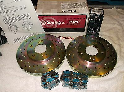 300ZX BRAKE UPGRADE 90-96 z32, BREMBO ROTORS + AXXIS  PADS!!  RARE SET!!  ITALY