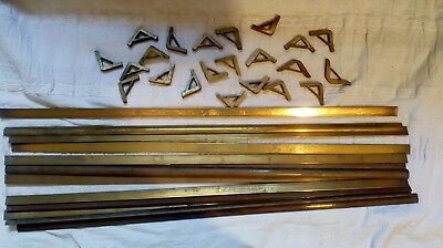 Antique Brass Stair Rods & fittings 31 inch