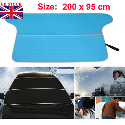 UK Magnetic Windscreen Cover Car Ice Frost Snow Dust Protector Sun Shade Screen